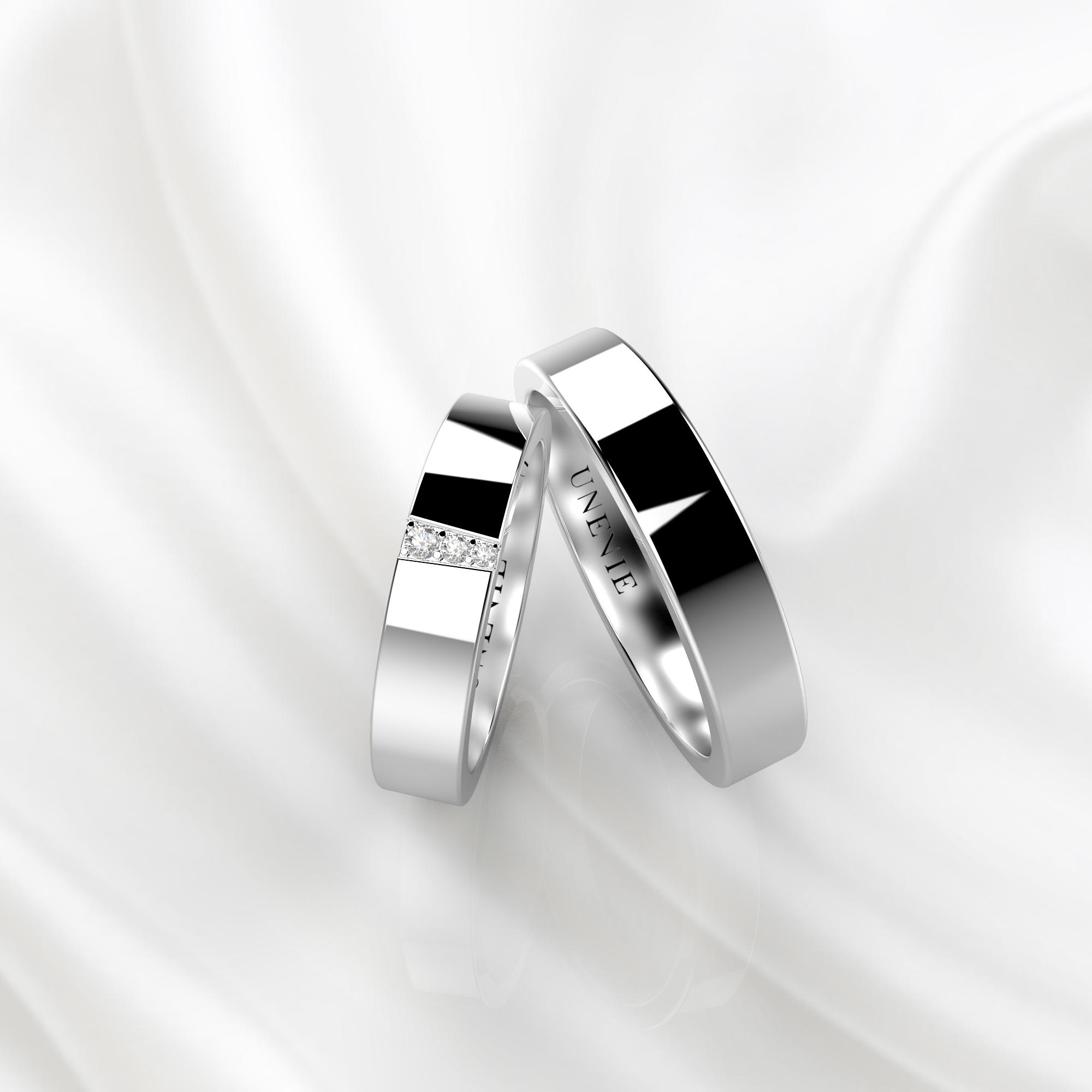 NV43 Обручальные кольца из белого золота с бриллиантами