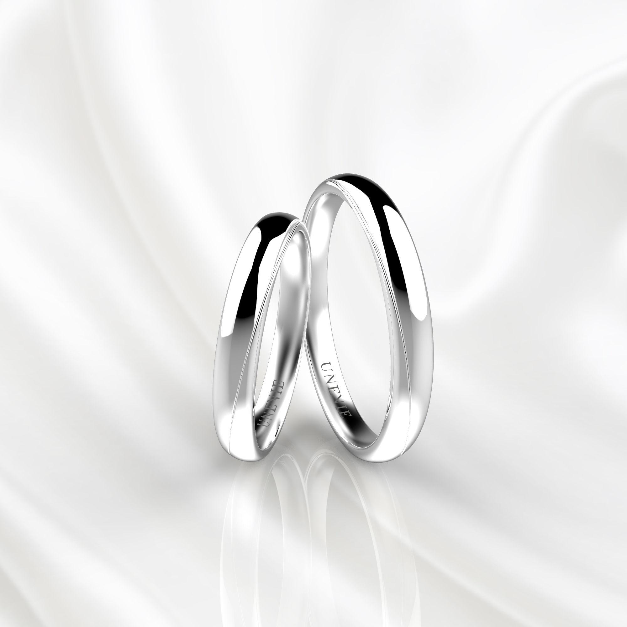 NV83 Парные обручальные кольца из белого золота