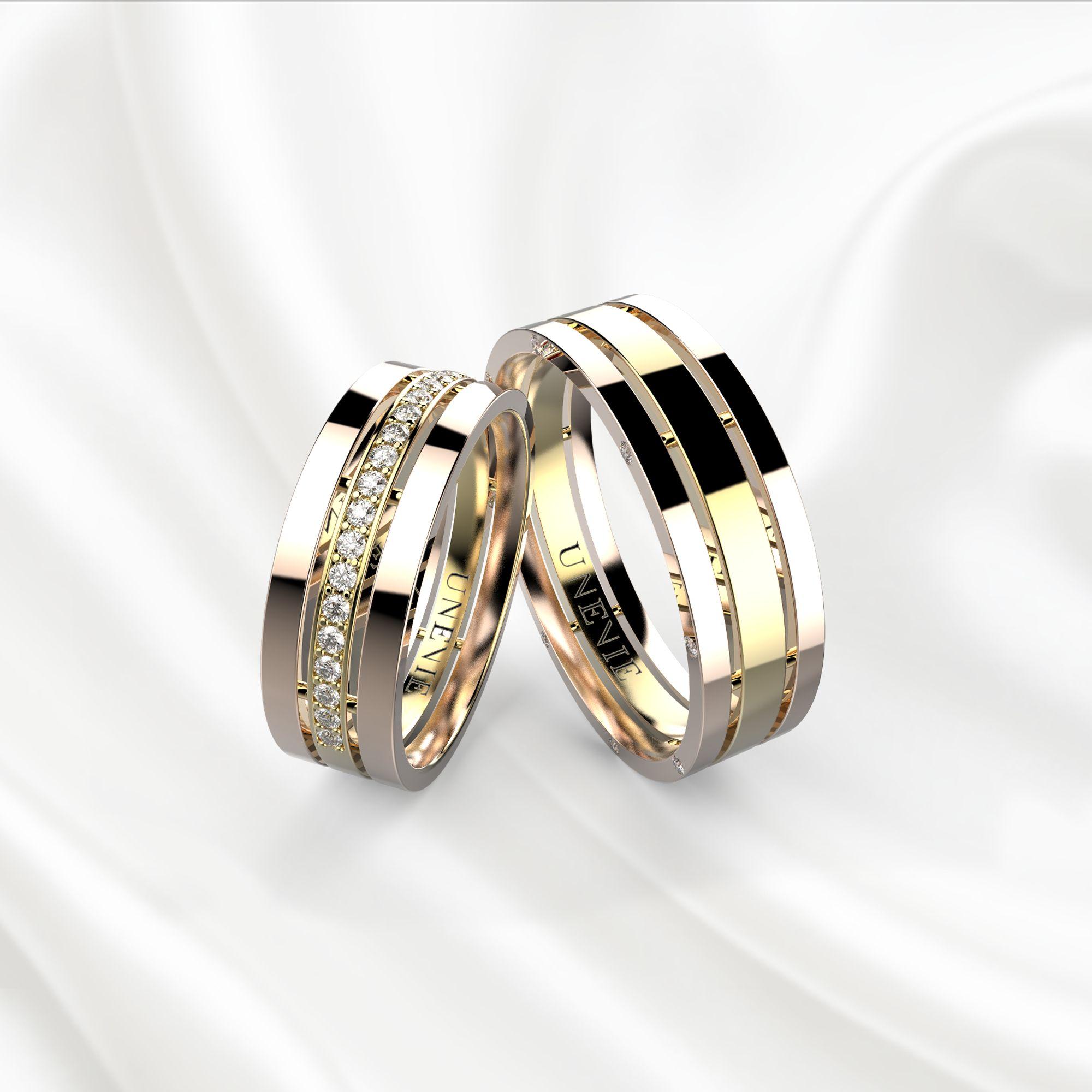 NV12 Обручальные кольца из розово-желтого золота