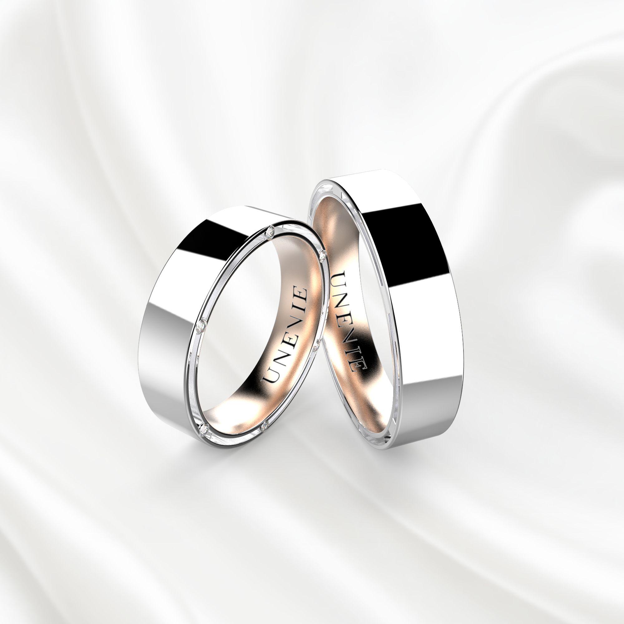 NV13 Обручальные кольца из бело-розового золота