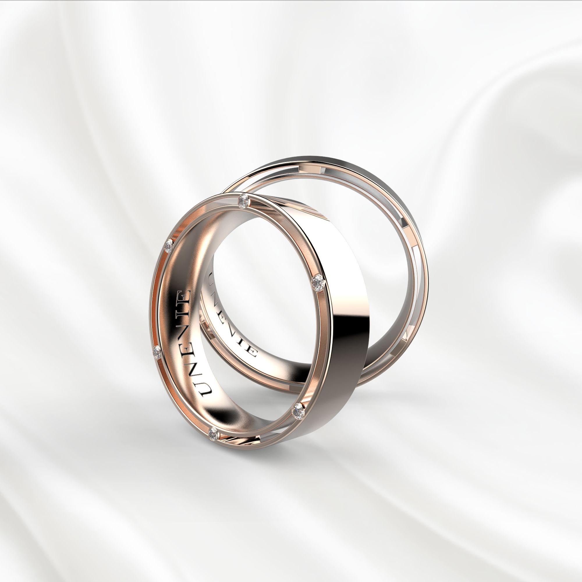 NV13 Обручальные кольца из розового золота