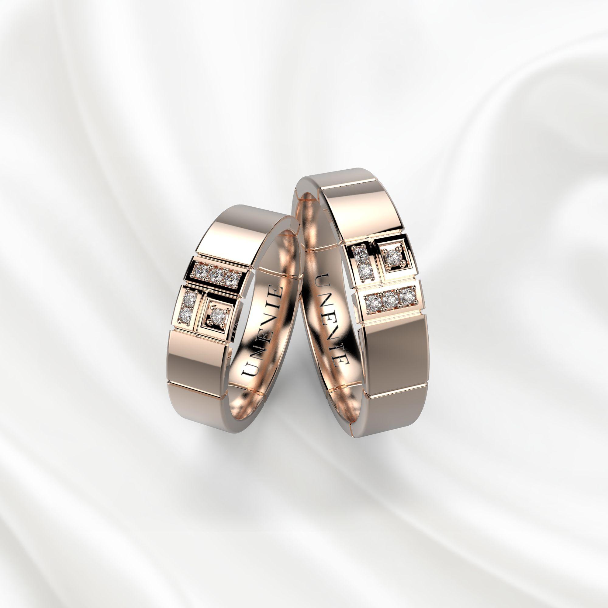 NV14 Обручальные кольца из розового золота