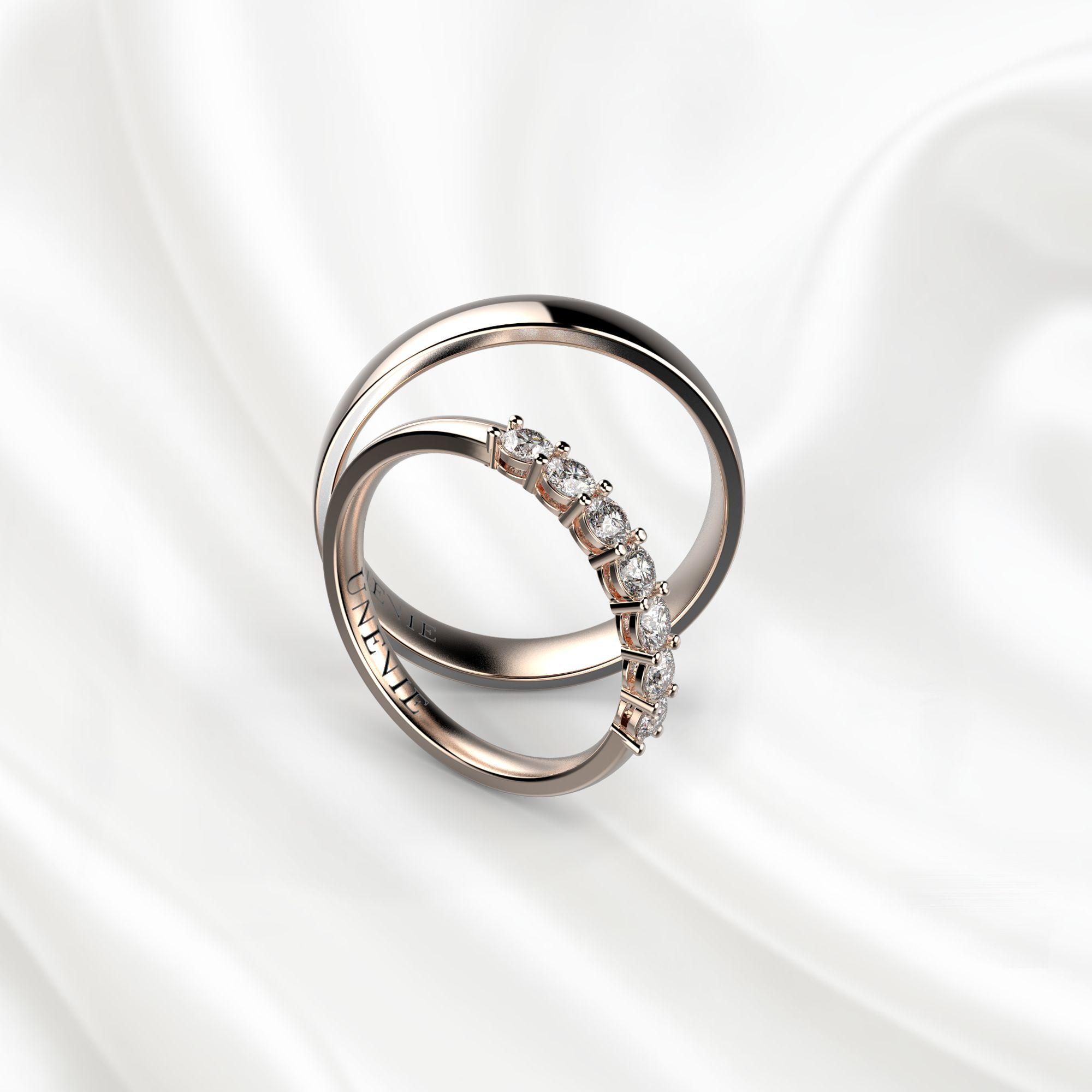 NV6 Обручальные кольца из розового золота