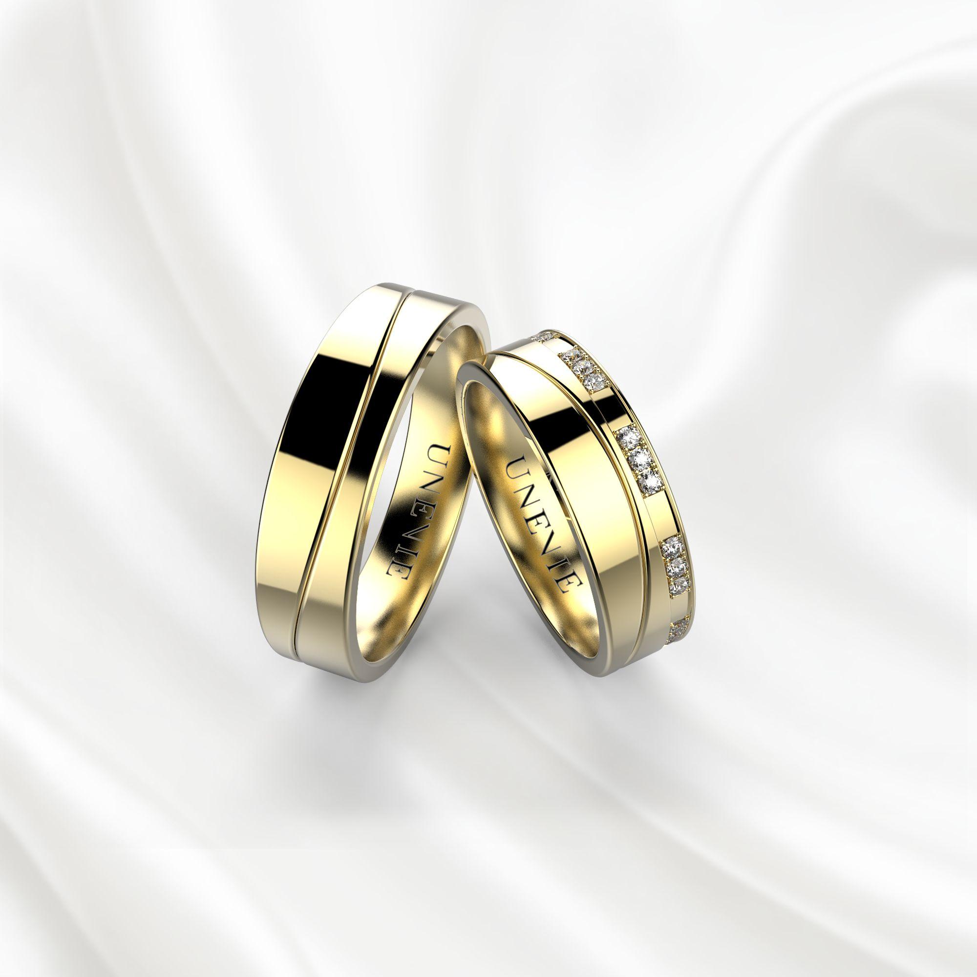NV4 Обручальные кольца из желтого золота