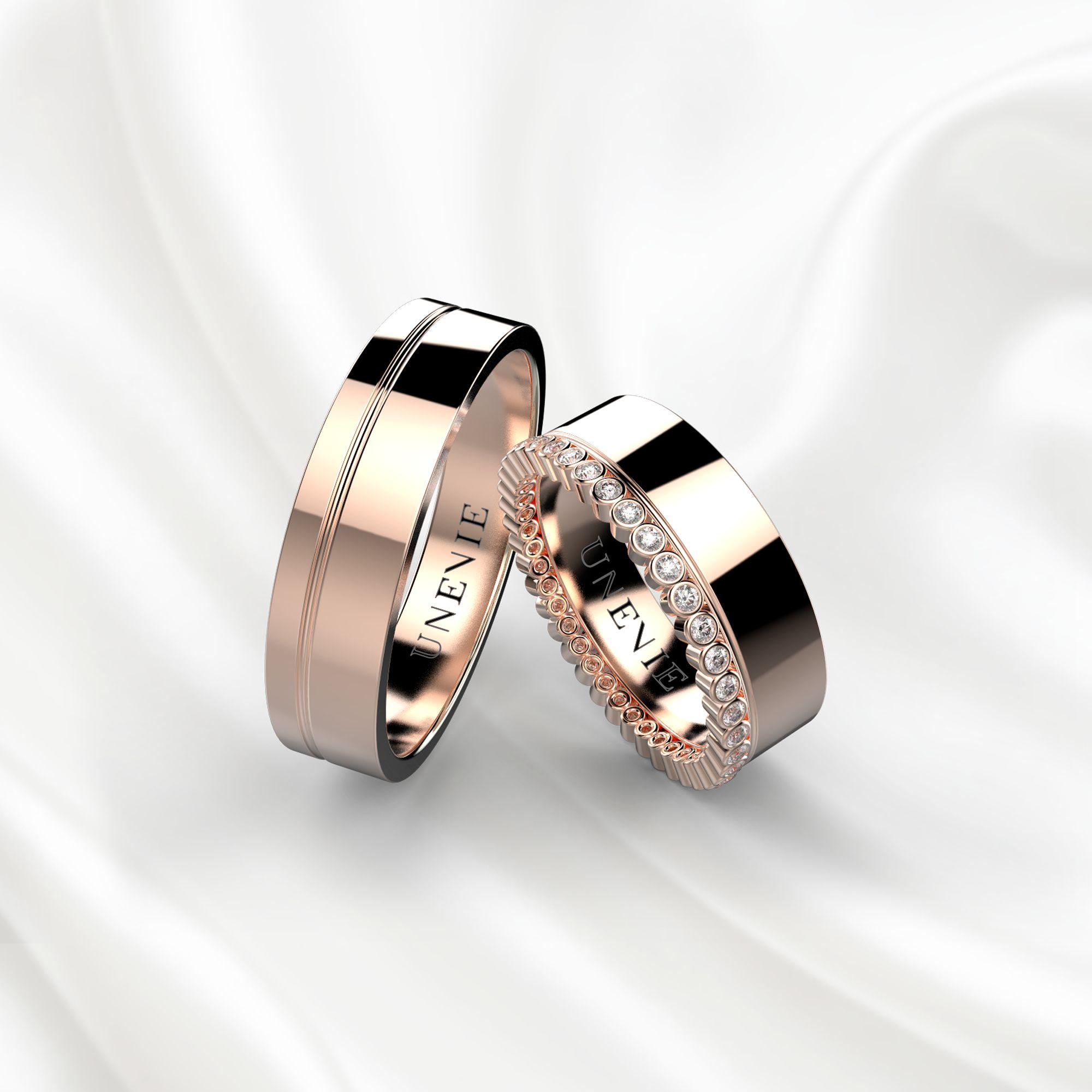 NV1 Обручальные кольца из розового золота