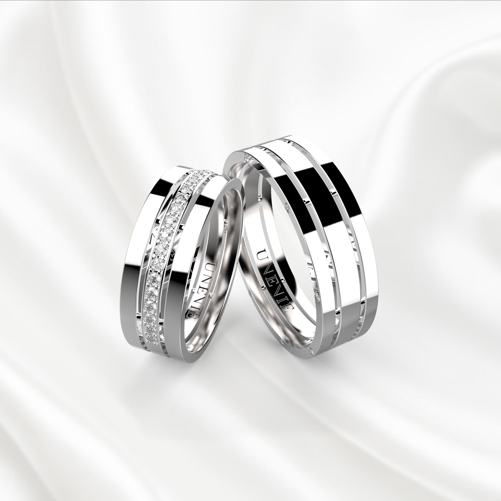 Обручальные кольца белое золото