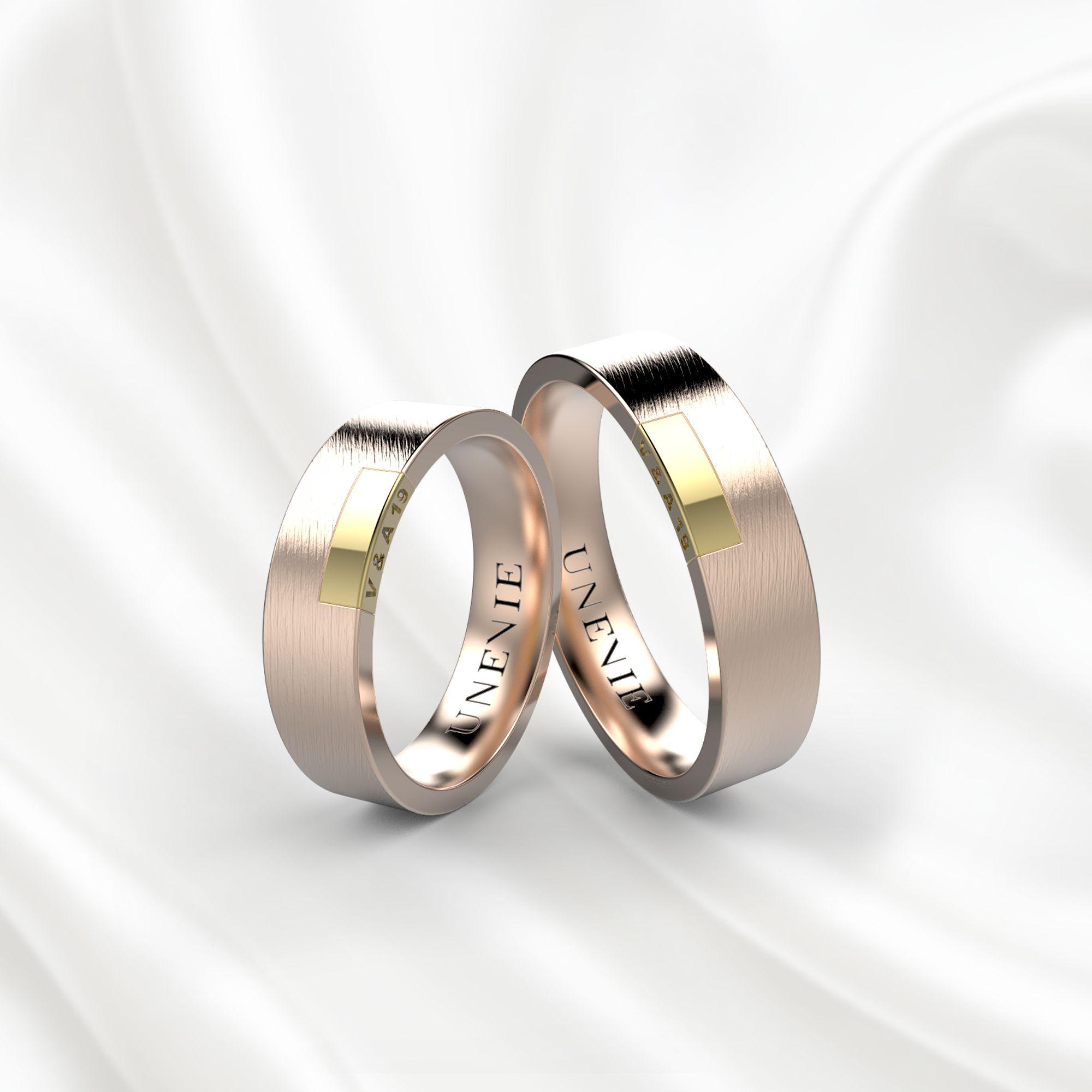 NV19 Обручальные кольца из розово-желтого золота