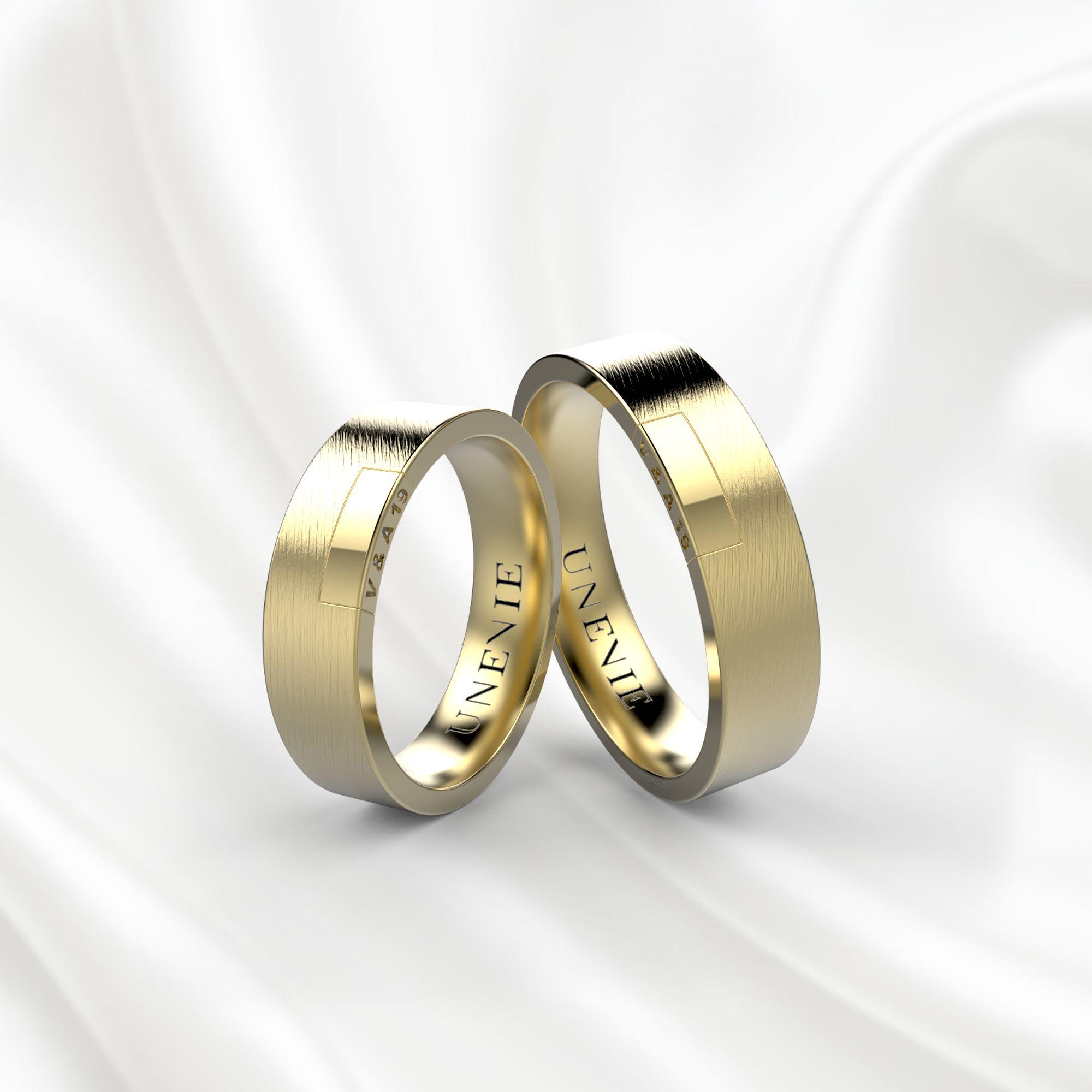 NV19 Обручальные кольца из желтого золота