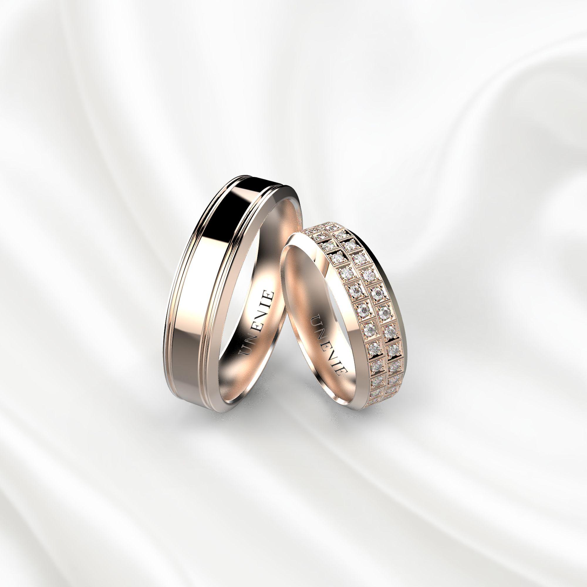 NV21 Обручальные кольца из розового золота