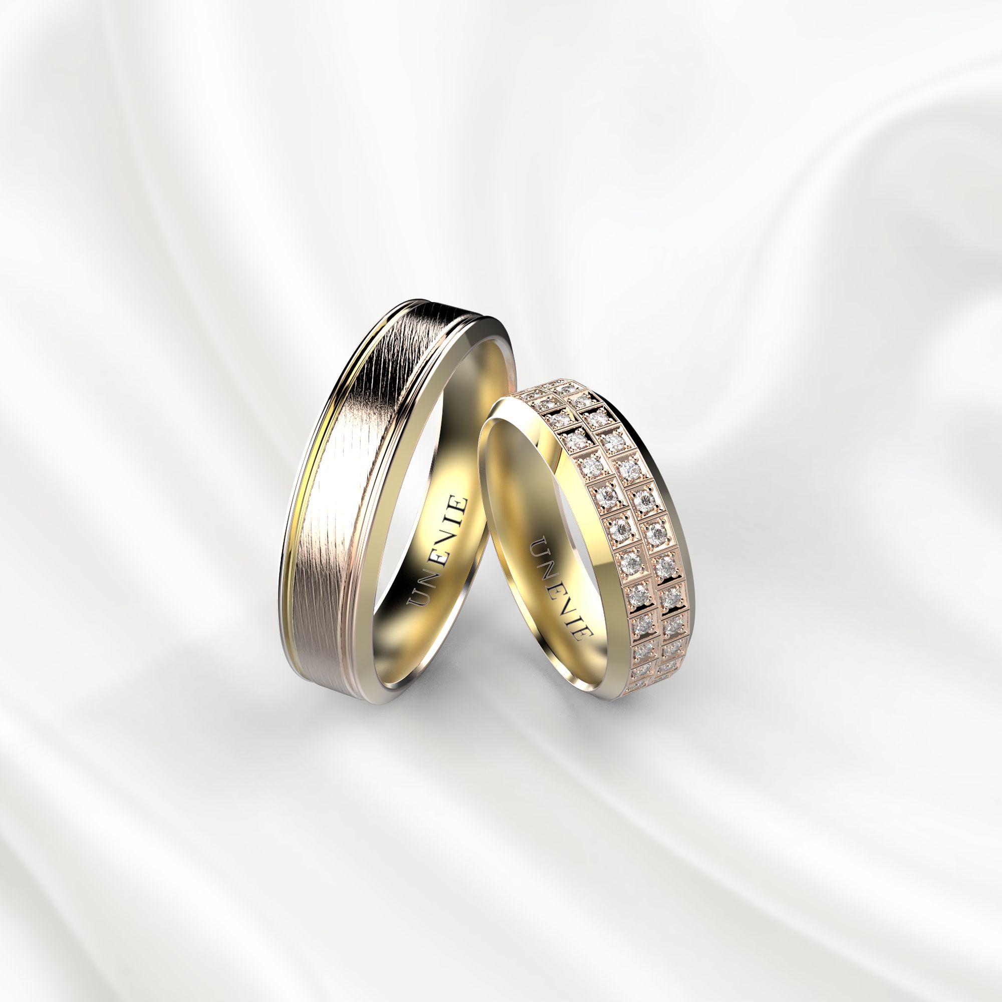 NV21 Обручальные кольца из желто-розового золота