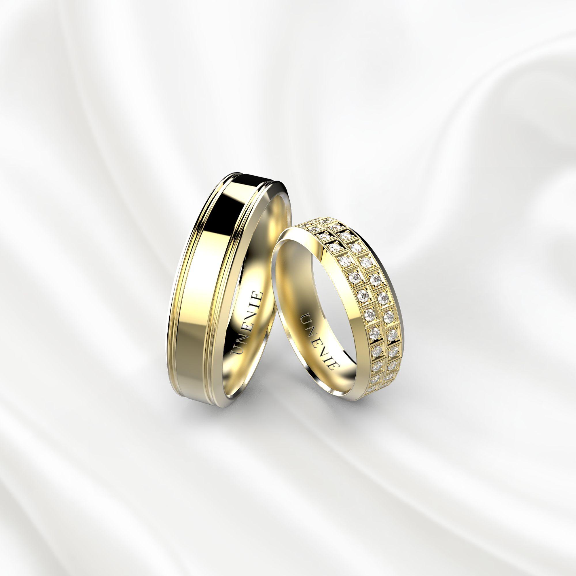 NV21 Обручальные кольца из желтого золота