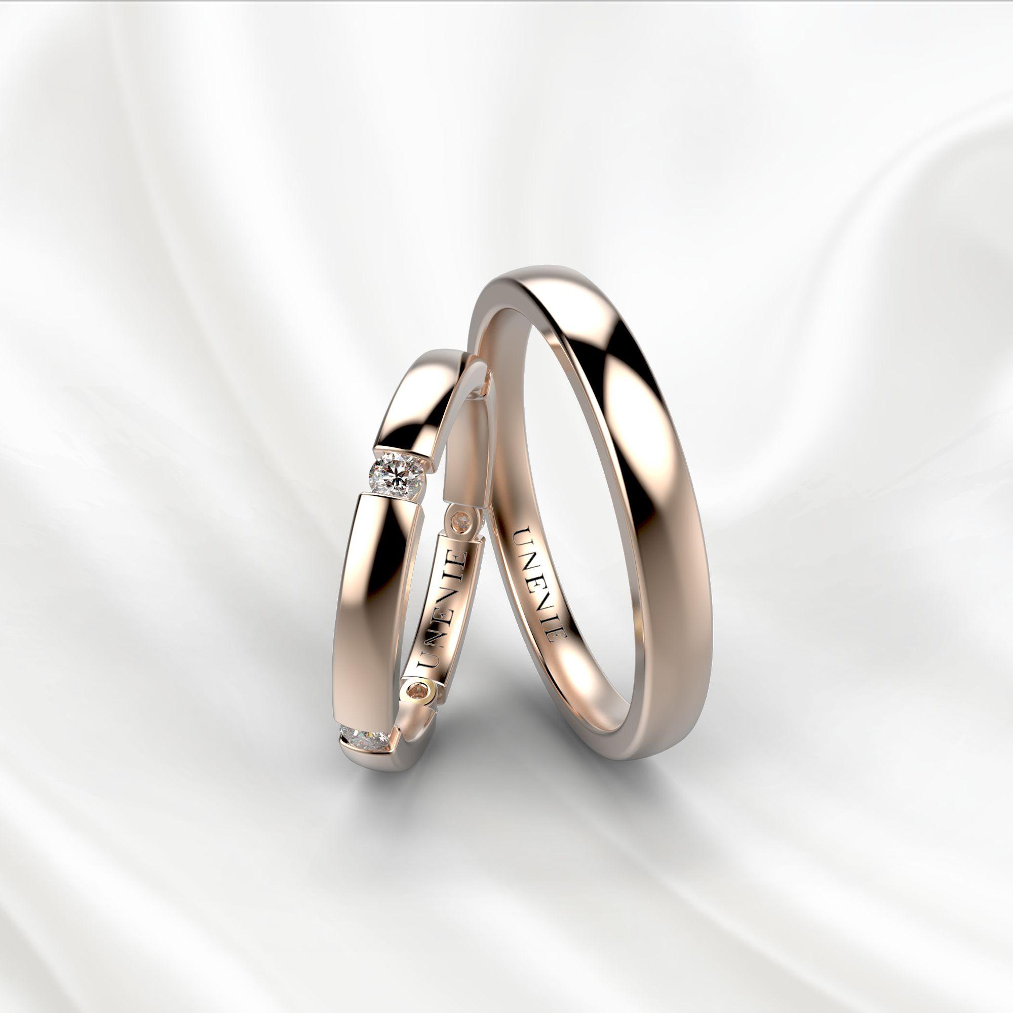 NV22 Обручальные кольца из розового золота