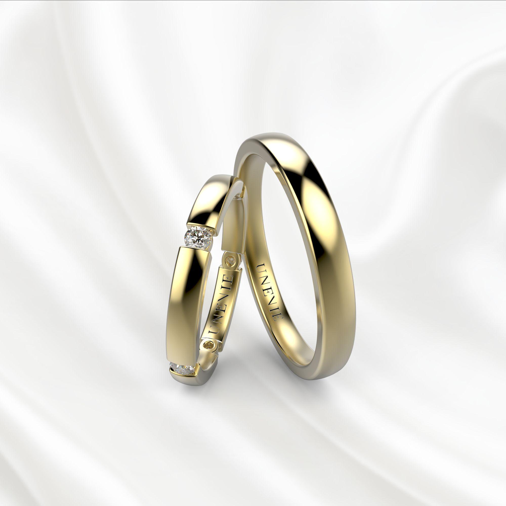 NV22 Обручальные кольца из желтого золота