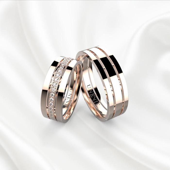 Обручальные кольца  розовое золото