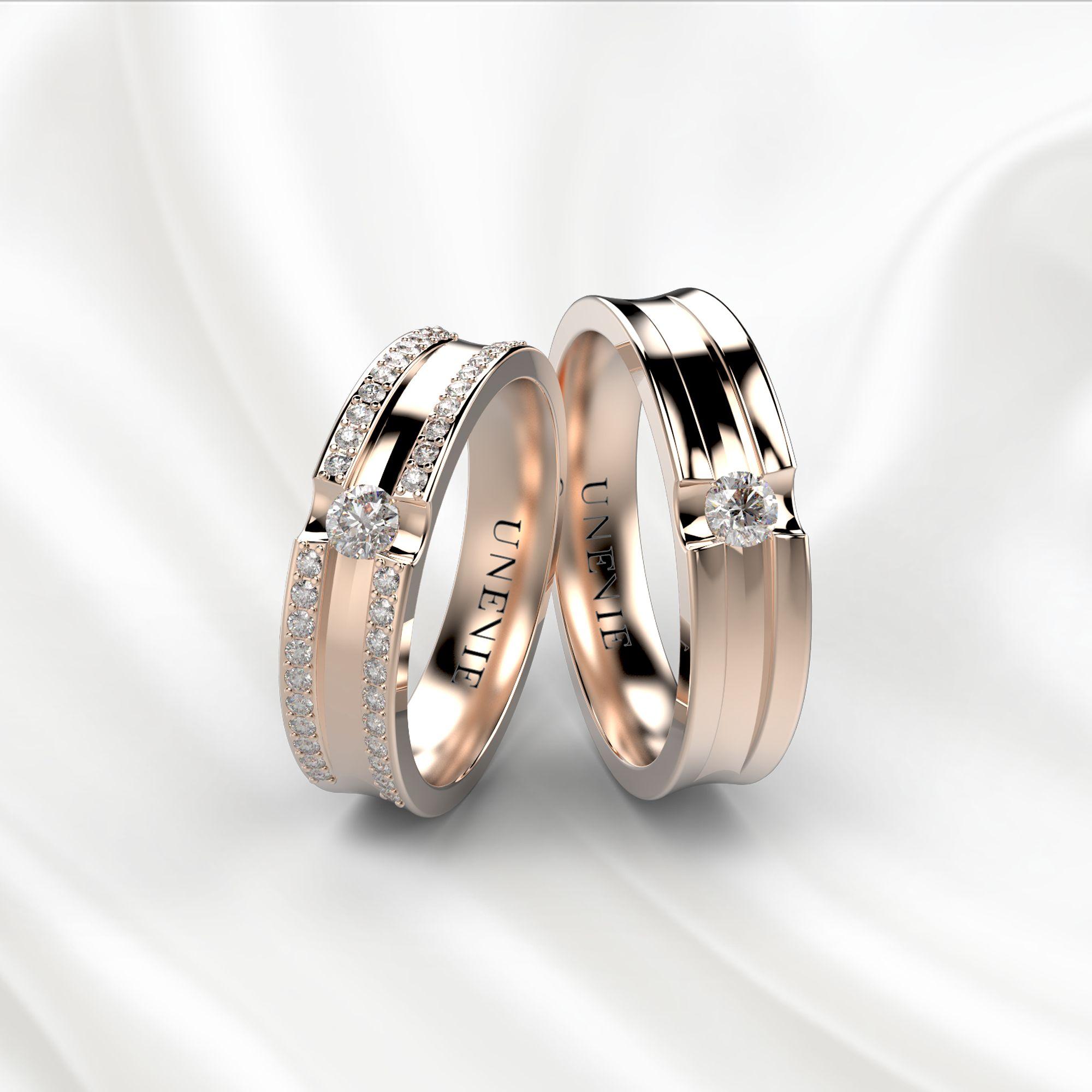 NV23 Обручальные кольца из розового золота