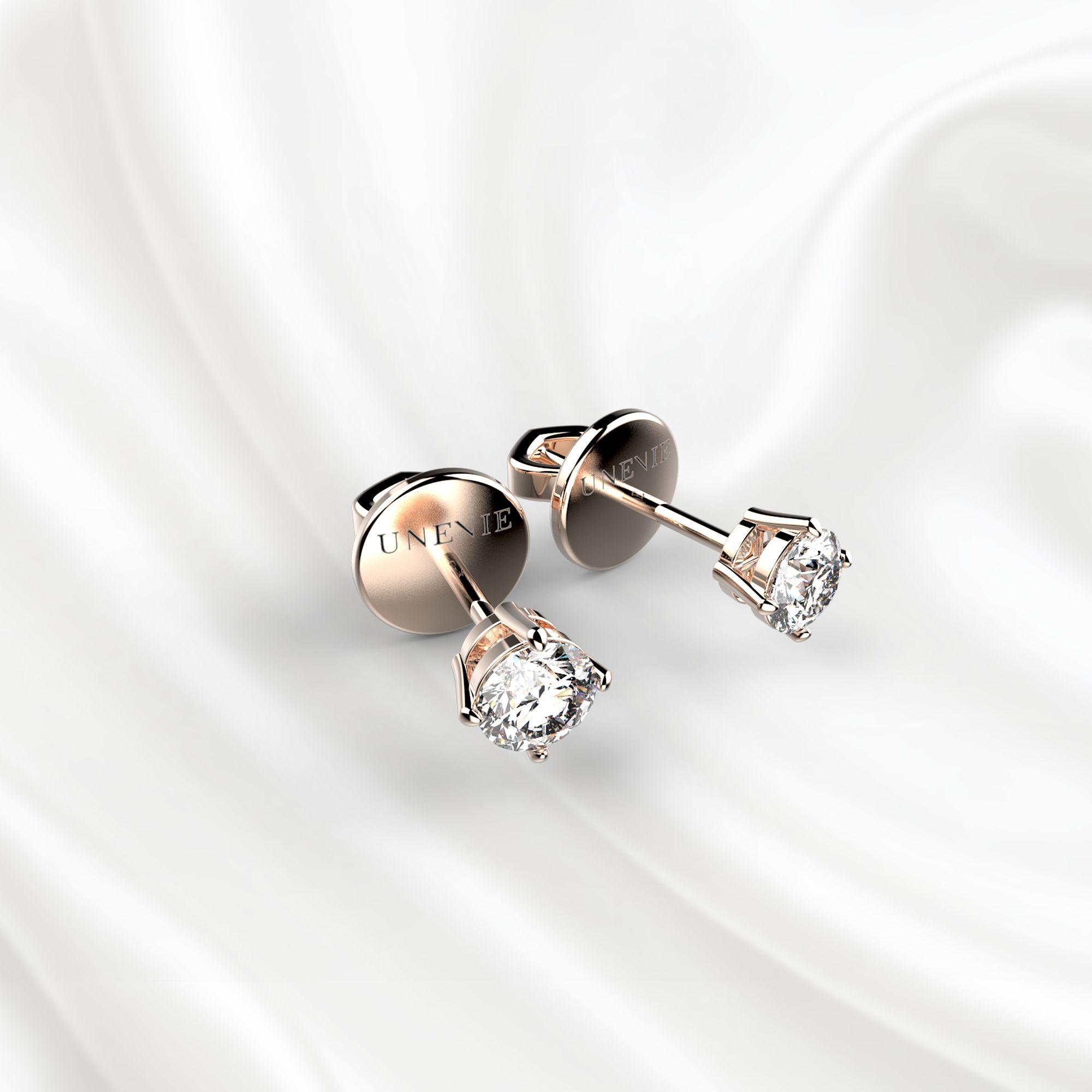 S3 Серьги из розового золота с бриллиантами 0,2 карат