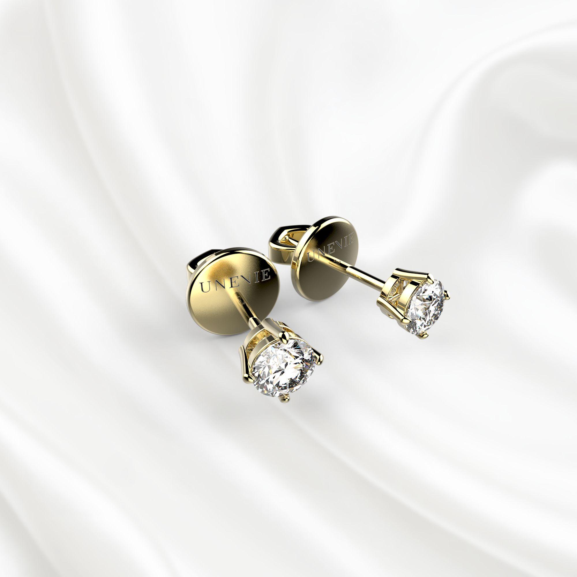 S3 Серьги из желтого золота с бриллиантами 0,2 карат
