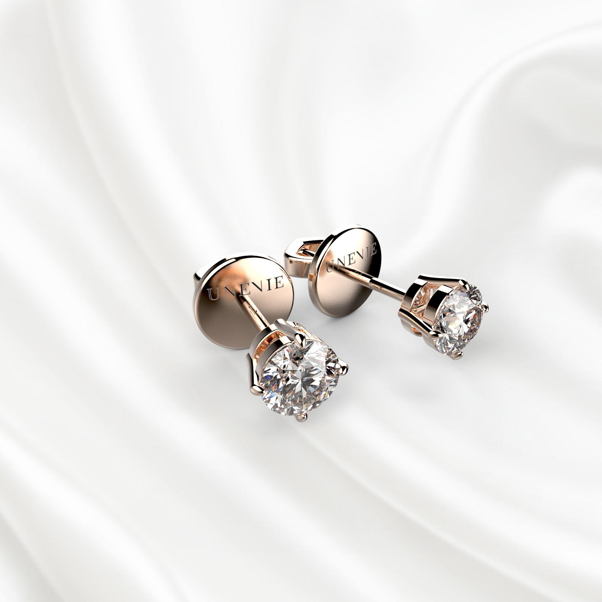 S3 Серьги из розового золота с бриллиантами 0,3 карат