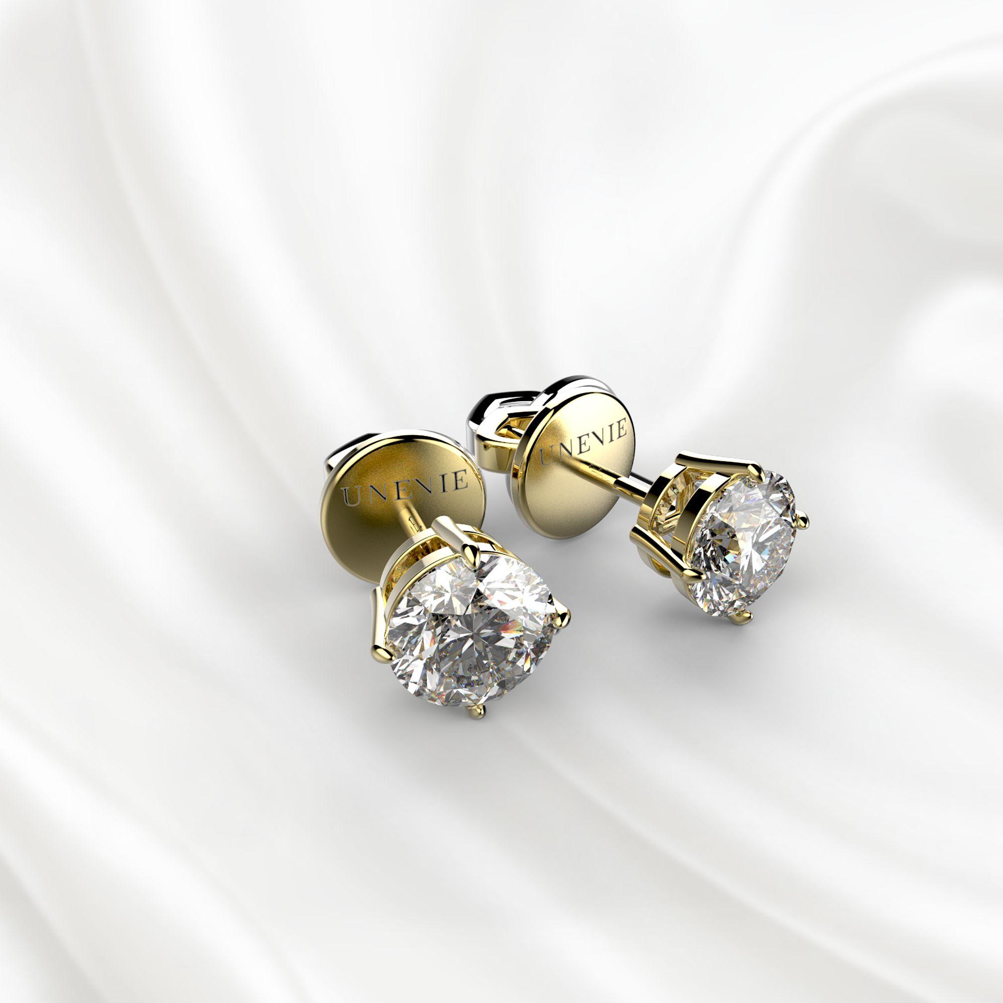 S3 Серьги из желтого золота с бриллиантами 0,6 карат