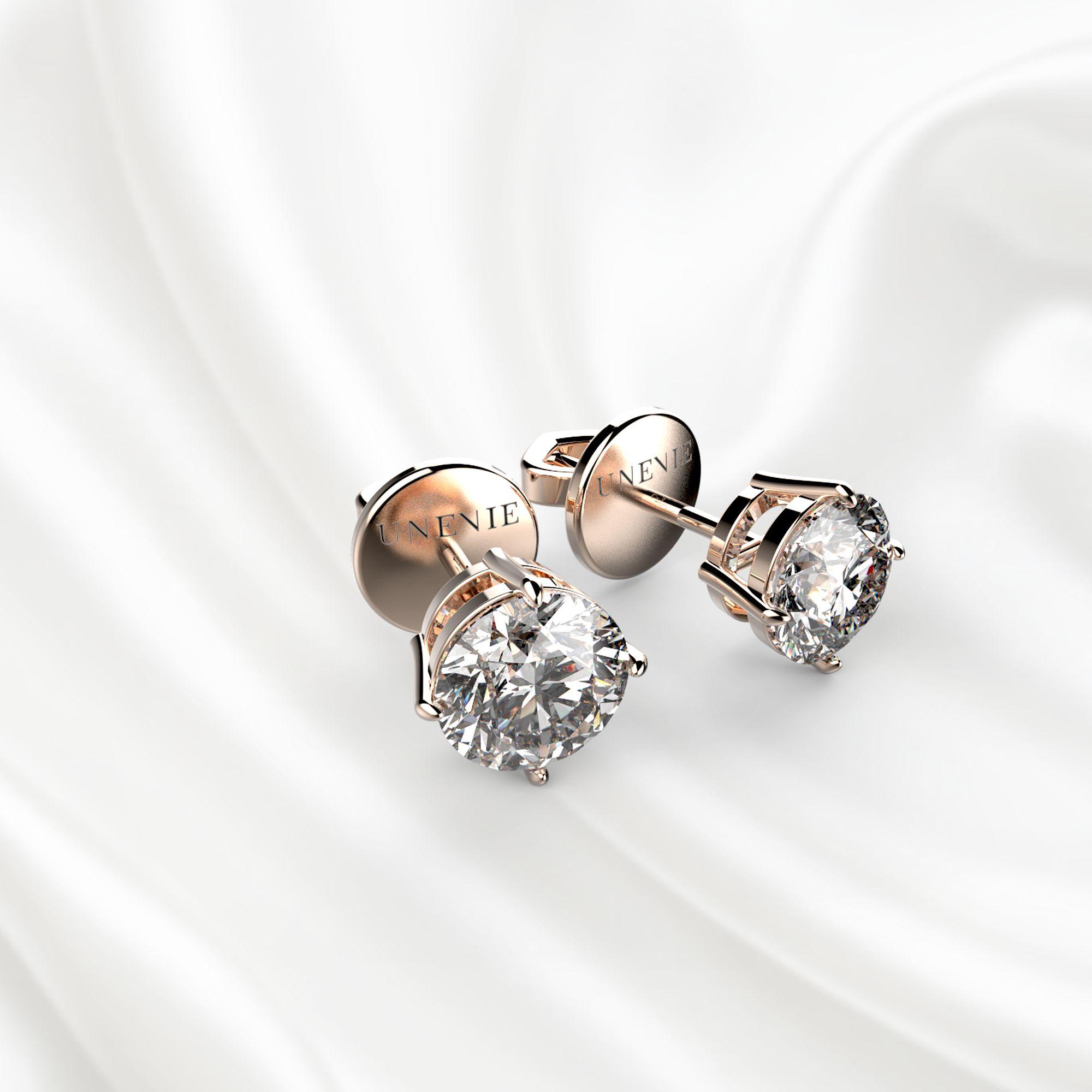 S3 Серьги из розового золота с бриллиантами 0,7 карат