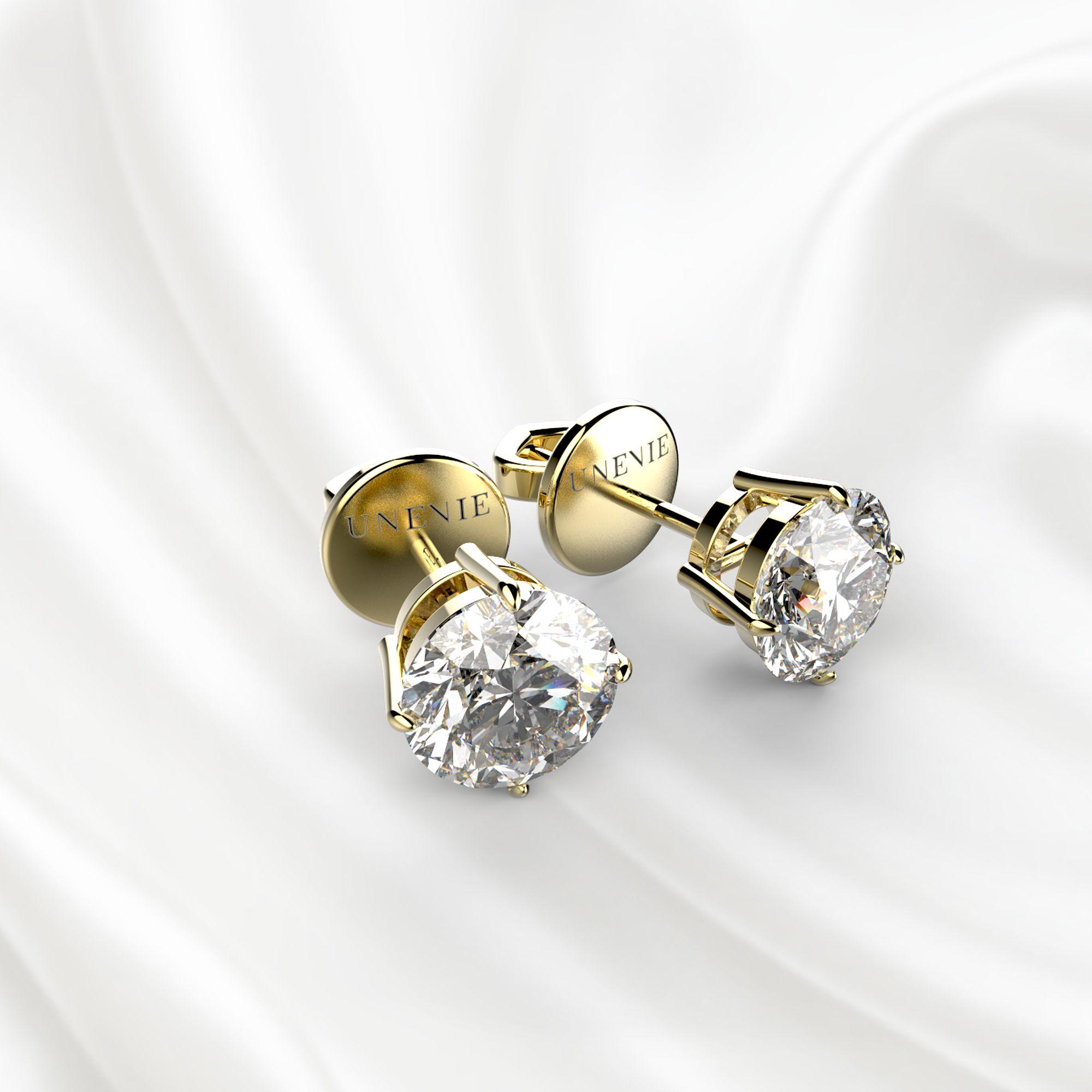 S3 Серьги из желтого золота с бриллиантами 0.8 карат