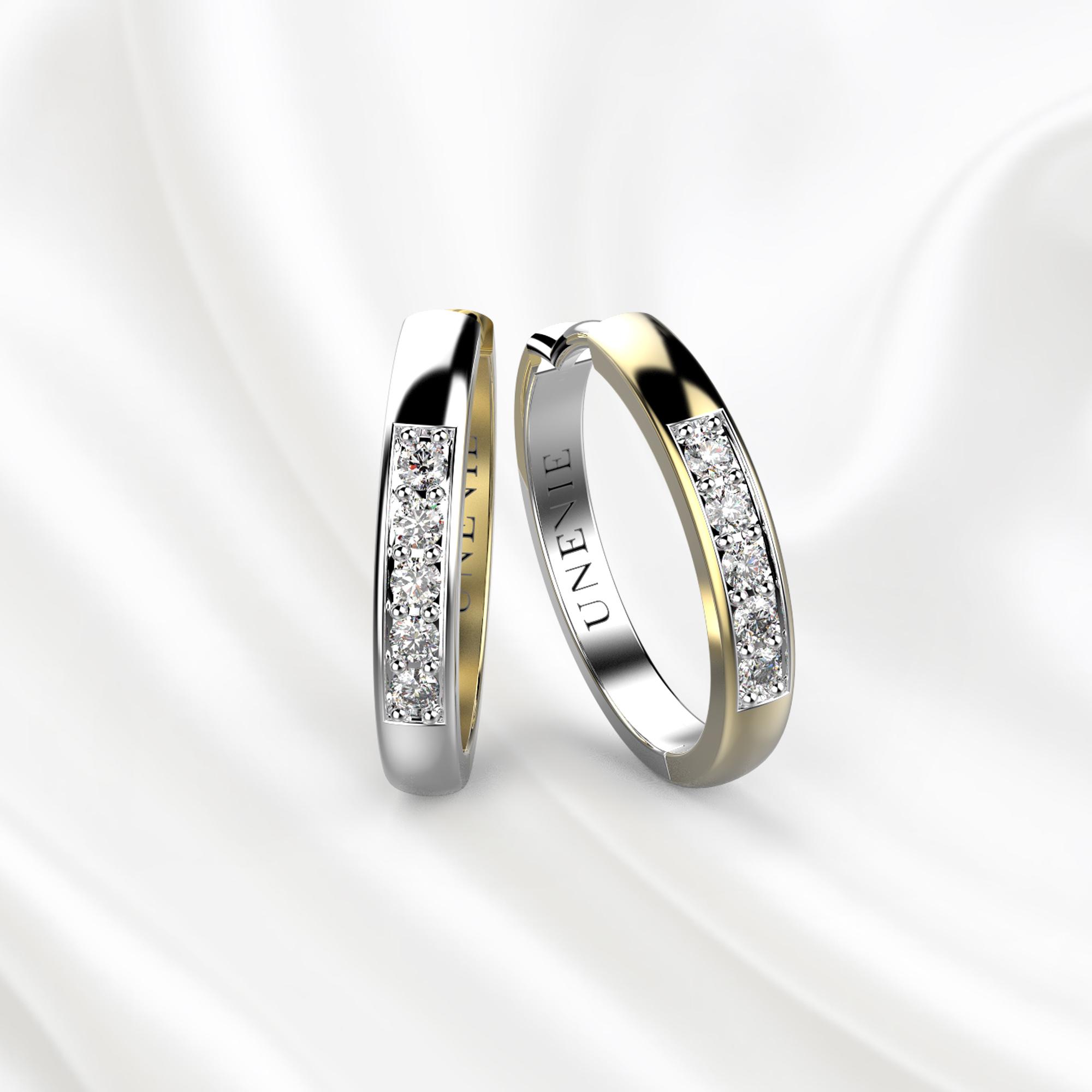 S8 Серьги из желто-белого золота с 20 бриллиантами