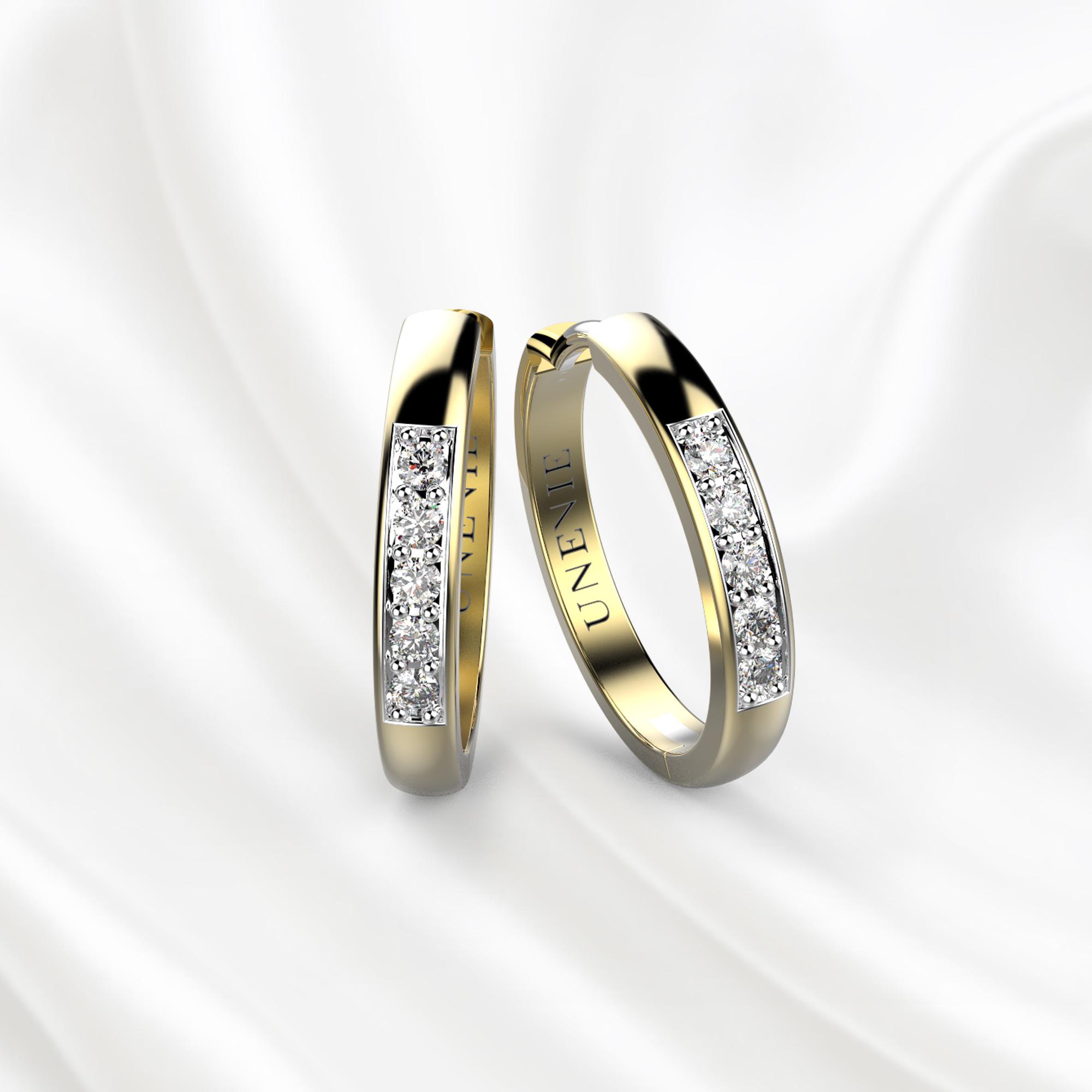 S8 Серьги из желтого золота с бриллиантами