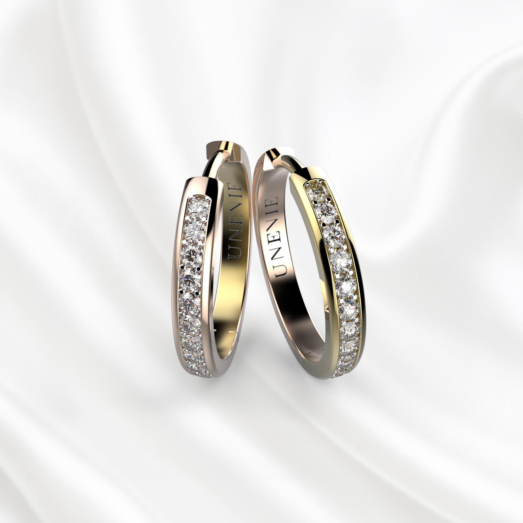 S9 Серьги из розово-желтого золота с 44 бриллиантами
