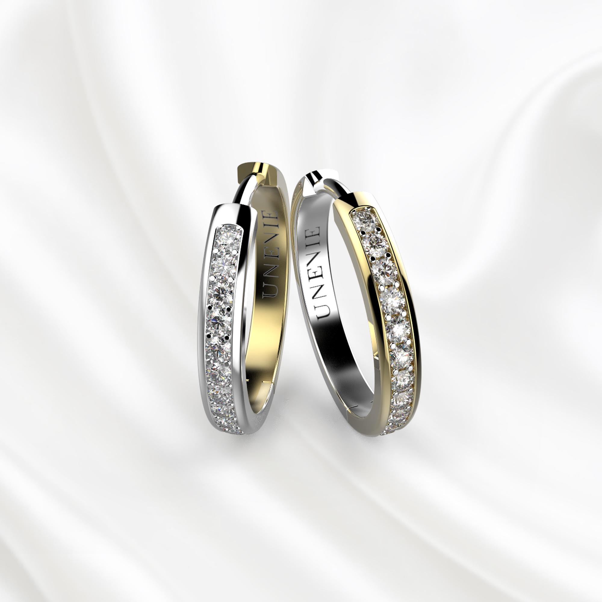 S9 Серьги из желто-белого золота с 44 бриллиантами