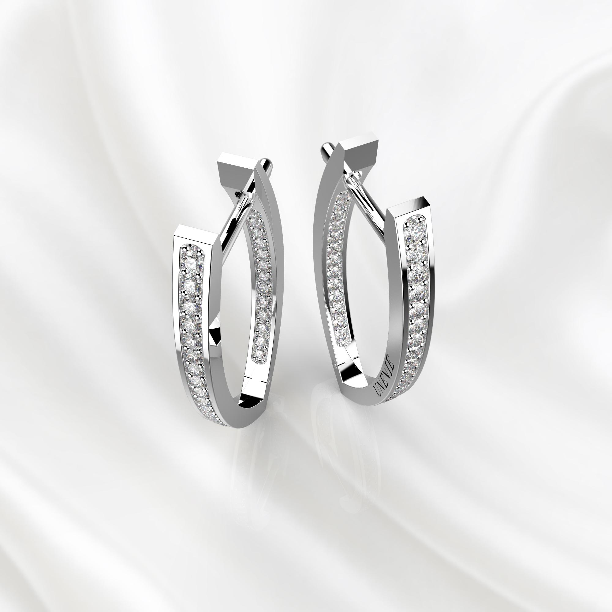 S10 Серьги из белого золота с бриллиантами