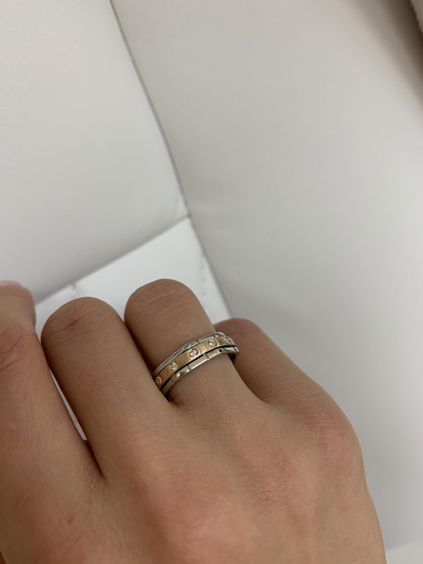 NV2 - бручальные кольца из комбинированного золота 585 пробы