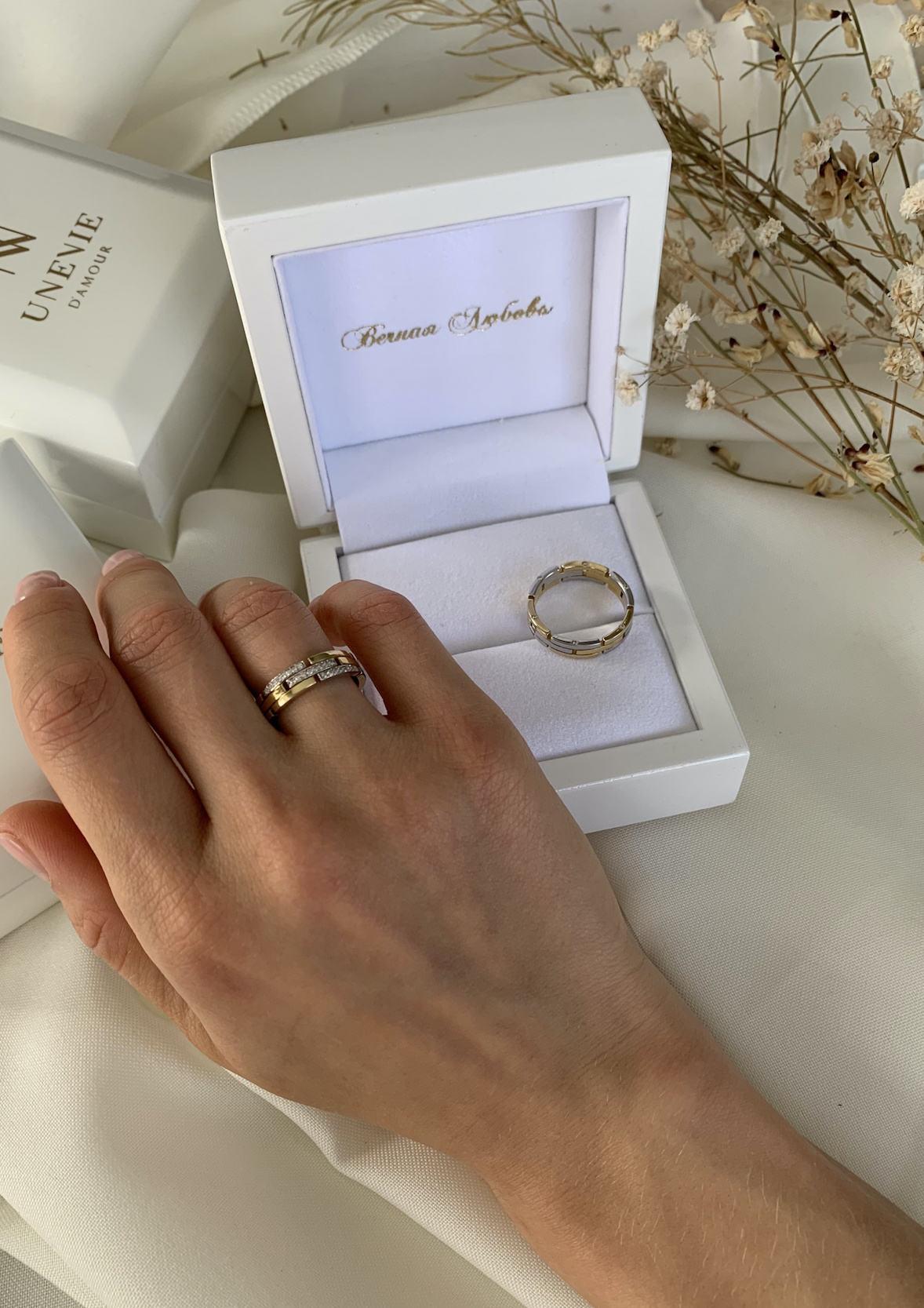 NV42 - обручальные кольца из золота 585 пробы с бриллиантами