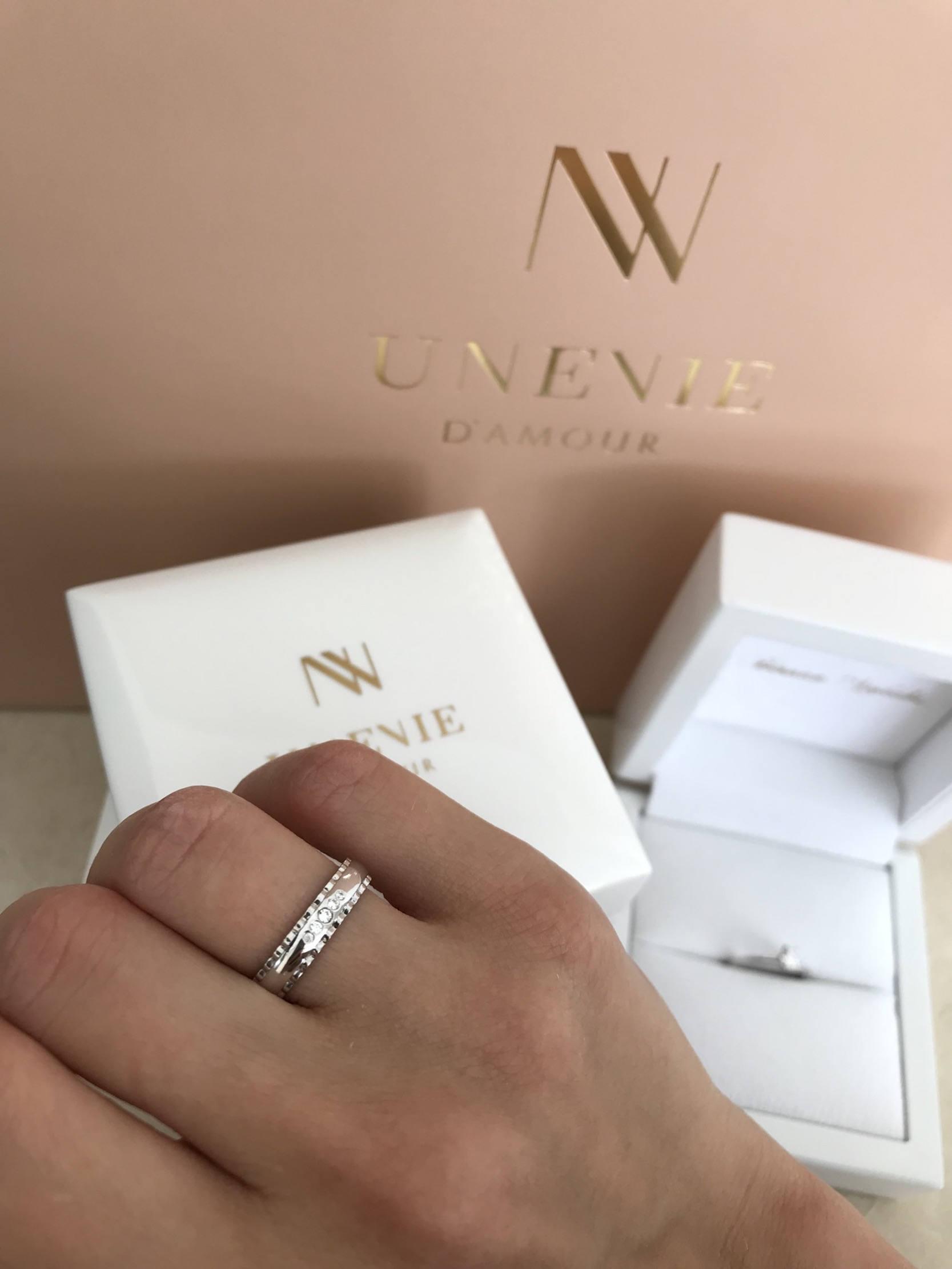 NV5 - парные обручальные кольца из золота 585 пробы с бриллиантами