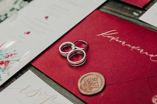 NV3 - Обручальные кольца из комбинированного золота 585 пробы