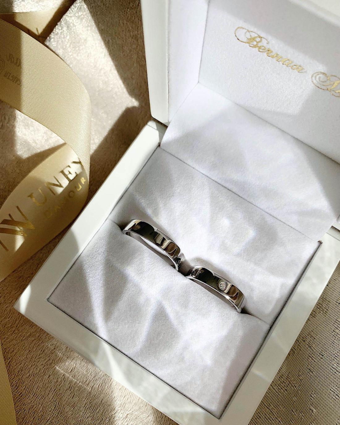 NV30 Обручальные кольца из белого золота